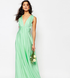 Атласное платье макси Fame and Partners Valencia - Зеленый