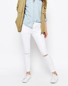 Рваные джинсы скинни с необработанными краями Pimkie - Белый