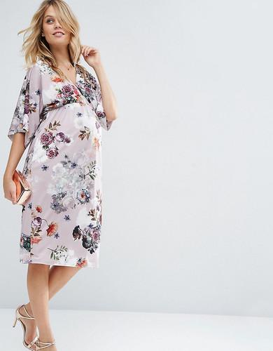 Платье-футляр для беременных с цветочным принтом ASOS - Мульти