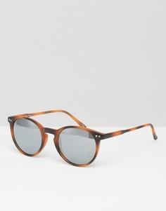 Круглые солнцезащитные очки с зеркальными линзами Jeepers Peepers Eden - Коричневый
