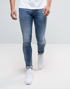 Выбеленные джинсы скинни Diesel Sleenker 64BE - Синий