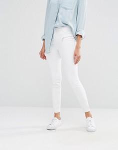 Супероблегающие джинсы на молнии спереди River Island Andy - Белый