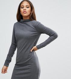 Платье в рубчик ASOS TALL - Серый