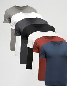 7 футболки ASOS - СКИДКА - Мульти