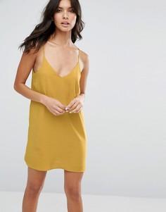 Платье-комбинация River Island - Желтый