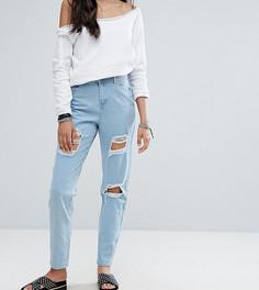 Рваные прямые джинсы Noisy May Tall Liv - Синий