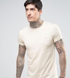 Бежевая меланжевая футболка эксклюзивно для Farah - Серый