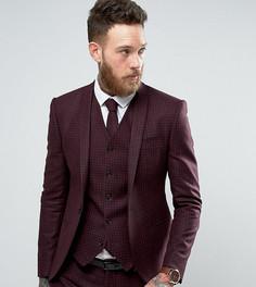 Приталенный пиджак с принтом Noak - Красный