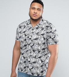 Рубашка скинни с отложным воротником Noose & Monkey PLUS - Черный