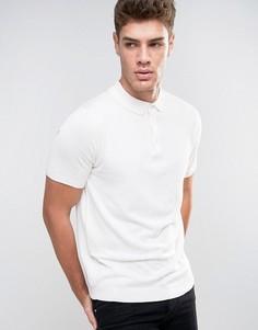 Трикотажная футболка-поло River Island - Кремовый