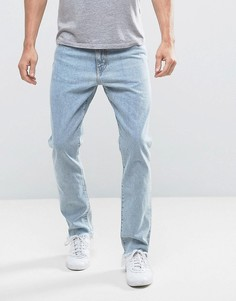 Голубые джинсы слим Weekday Sharp Lagoon - Синий