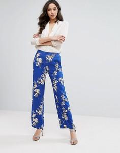 Широкие брюки с цветочным принтом River Island - Мульти