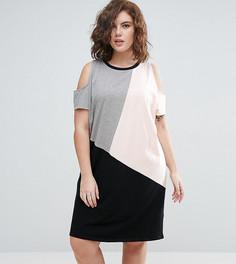 Платье колор блок ASOS CURVE - Мульти