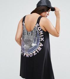 Свободное платье с принтом и открытой спиной ASOS CURVE - Мульти