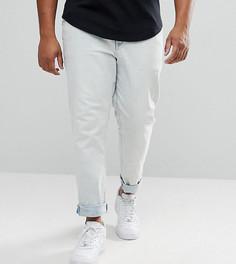 Облегающие эластичные выбеленные джинсы ASOS PLUS - Синий
