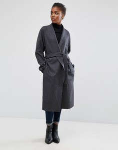 Шерстяное пальто Minimum - Серый