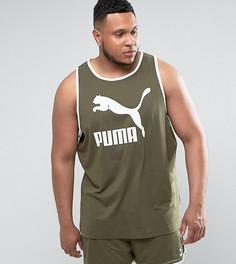 Зеленая трикотажная майка Puma PLUS эксклюзивно для ASOS - Зеленый