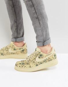 Бежевые кроссовки с камуфляжным принтом Nike Air Force 1 07 LV8 823511-700 - Бежевый