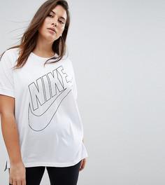 Белая футболка с логотипом Nike Plus - Белый