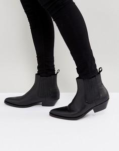 Черные кожаные ботинки челси ALDO Etigovia - Черный