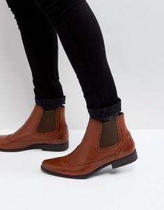 Светло-коричневые ботинки челси из искусственной кожи ASOS - Рыжий