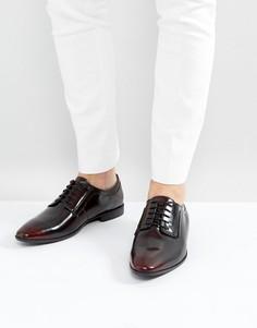 Бордовые кожаные дерби на шнуровке ASOS - Красный