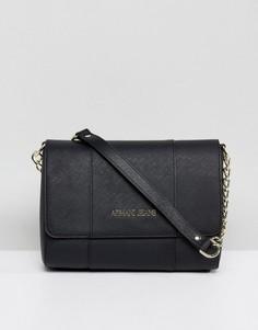 Черная сумка с ремешком-цепочкой через плечо Armani Jeans - Черный