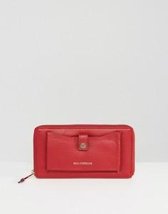 Красный кожаный кошелек на молнии с отделением для телефона Paul Costelloe - Красный