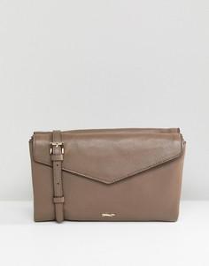 Кожаная сумка-конверт через плечо Paul Costelloe - Коричневый