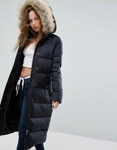 Удлиненная дутая куртка Tommy Hilfiger Denim - Черный