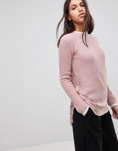 Состаренный джемпер QED London - Розовый