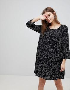 Платье в горошек FRNCH - Черный