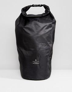 Черный рюкзак с нашивкой и застежками-зажимами ASOS - Черный