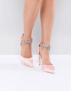 Светло-розовые декорированные туфли-лодочки True Decadence - Розовый