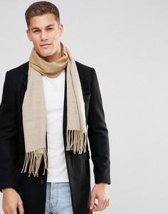 Бежевый шарф (бежевый/серый) ASOS - Бежевый