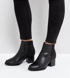 Ботильоны на каблуке для широкой стопы Truffle Collection - Черный
