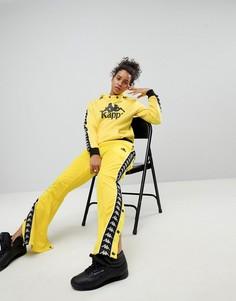 Комбинируемые спортивные брюки свободного кроя с кнопками по бокам Kappa - Желтый