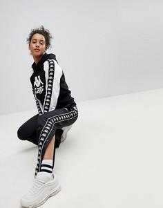 Комбинируемые спортивные брюки свободного кроя с кнопками по бокам Kappa - Черный