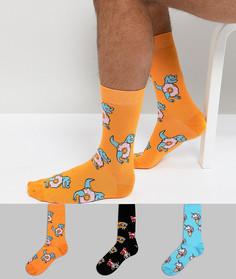 3 пары носков ASOS - Мульти