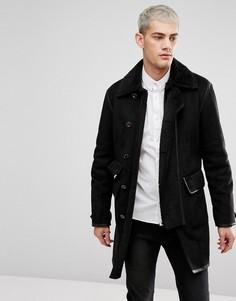 Черное пальто Pretty Green - Черный