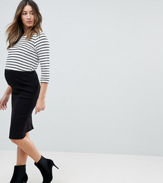 Облегающая юбка Mamalicious - Черный Mama.Licious