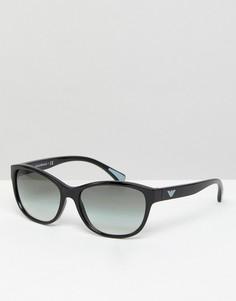 Солнцезащитные очки в стиле ретро Emporio Armarni - Черный