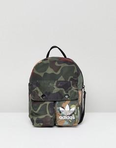 Мини-рюкзак с камуфляжным принтом adidas Originals X Pharrell Williams Hu - Мульти