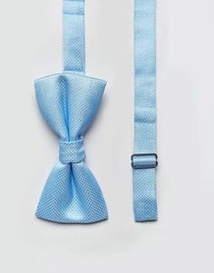 Галстук-бабочка в горошек металлик 7X - Синий