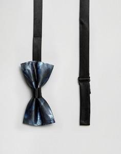 Галстук-бабочка с принтом перо павлина 7X - Синий