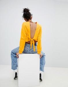 Свитшот с открытой спиной ASOS - Желтый