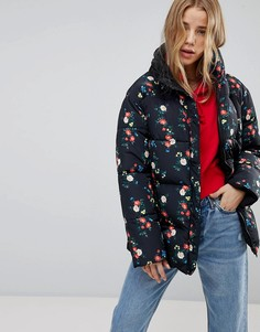 Двусторонняя дутая куртка с цветочным принтом Miss Selfridge - Мульти