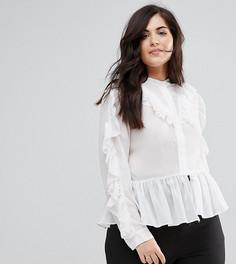 Блузка с рюшами Truly You - Белый