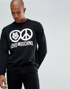 Свитер с логотипом Love Moschino - Черный