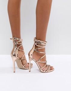 Босоножки на каблуке Steve Madden Flaunt - Золотой